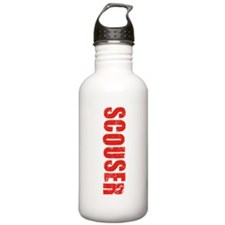 Scouser Red Grunge Water Bottle
