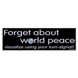 Visualize Using Your Turn Signal Bumper Car Sticker