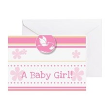 A Baby Girl Greeting Card