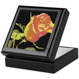 Cute Woman flowers Keepsake Box