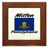 Milton Pennsylvania Framed Tile