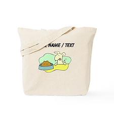Custom Dog And Food Tote Bag