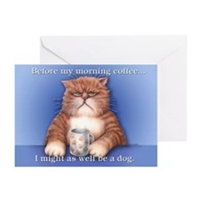 Coffee Cat Greeting Cards (Pk of 20)