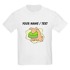 Custom Dog And Bowl T-Shirt