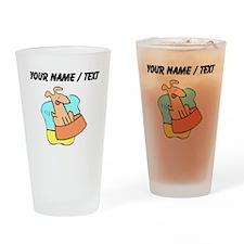 Custom Dog And Bowl Drinking Glass