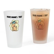 Custom Dog And Bowl Drinking Glass