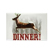 deer dinner Rectangle Magnet