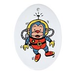 Space Monkey Keepsake (Oval)