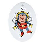 Space Monkey Keepsake (Oval)