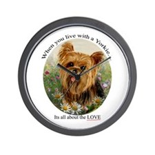 Dog Ceramic Tile Wall Clock