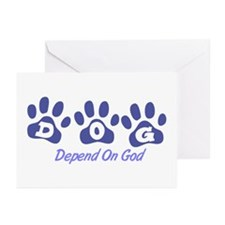 Blue DOG Greeting Cards (Pk of 20)