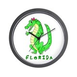 Cute Gator Wall Clock