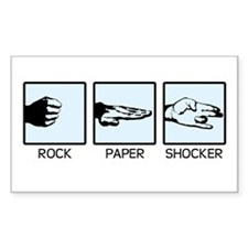 'Rock, Paper...' Rectangle Decal