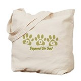 Khaki DOG Tote Bag