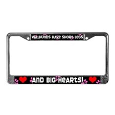 Short Legs Vallhund License Plate Frame Pink