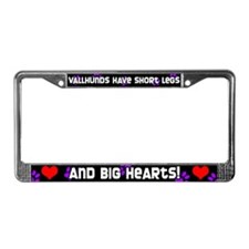 Short Legs Vallhund License Plate Frame Purple