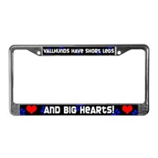 Short Legs Vallhund License Plate Frame Blue