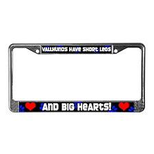 Short Legs Vallhund License Plate Frame Blue