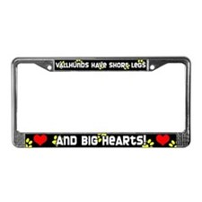 Short Legs Vallhund License Plate Frame Yellow