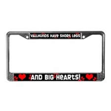 Short Legs Vallhund License Plate Frame Red