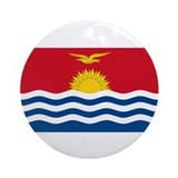 Kiribati Flag Ornament (Round)