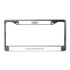 Cute Catholic conservative american License Plate Frame