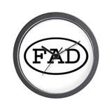 FAD Oval Wall Clock