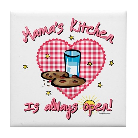 Mama's Kitchen Open Tile Coaster