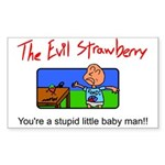 Evil Strawberry Sticker