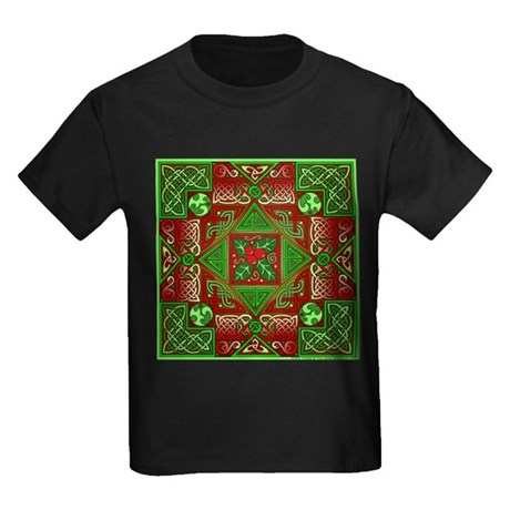Celtic Labyrinth Holly Kids Dark T-Shirt