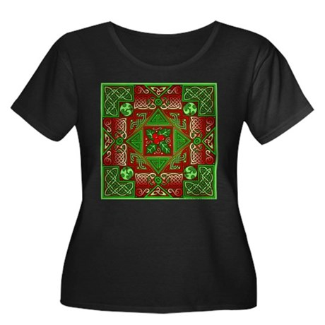 Celtic Labyrinth Holly Women's Plus Size Scoop Nec