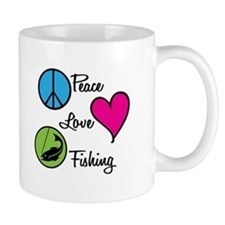 Peace Love Fishing Mug