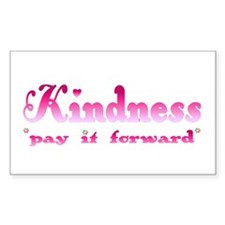 KINDNESS-pay it forward Rectangle Decal