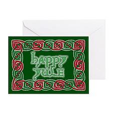 Celtic Happy Yule Greeting Card