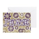 Snowflake Peace Greeting Card