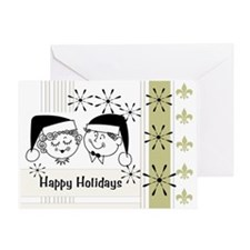 Retro Happy Holidays Greeting Card