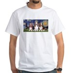 Starry Basset White T-Shirt