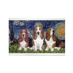 Starry Basset Rectangle Magnet (10 pack)
