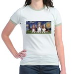 Starry Basset Jr. Ringer T-Shirt