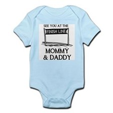See you at the finish line mommy & Infant Bodysuit