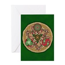Celtic Reindeer Shield Greeting Card