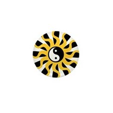 Sun Tao Yin Yang Symbol Mini Button (10 pack)