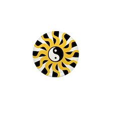 Sun Tao Yin Yang Symbol Mini Button (100 pack)
