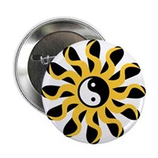 "Sun Tao Yin Yang Symbol 2.25"" Button (100 pack)"