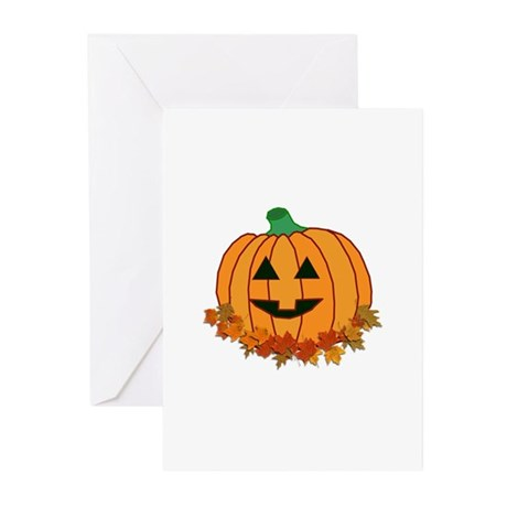 Halloween Jack-o-lantern Greeting Cards (Pk of 10)
