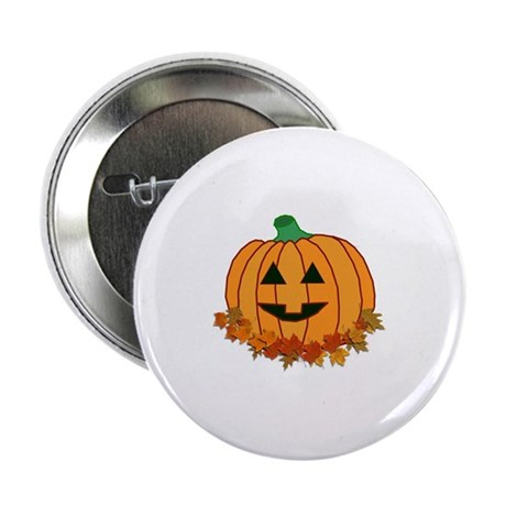 Halloween Jack-o-lantern Button