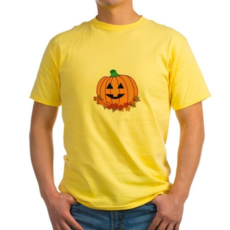 Halloween Jack-o-lantern Yellow T-Shirt