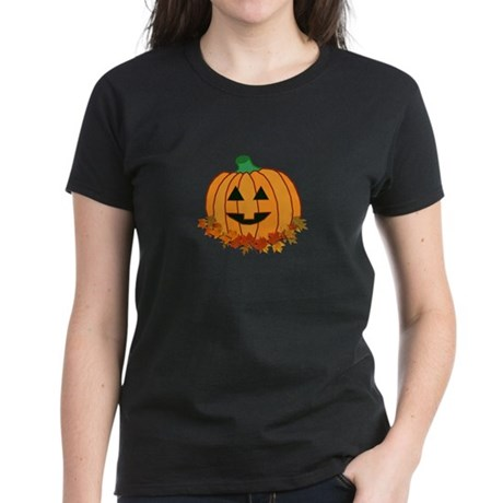 Halloween Jack-o-lantern Women's Dark T-Shirt