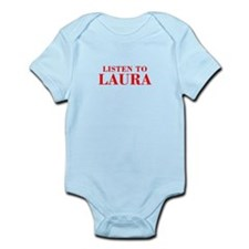 LISTEN TO LAURA-Bod red 300 Body Suit