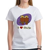 Owl T-Shirt, Women's: I [heart] Owls